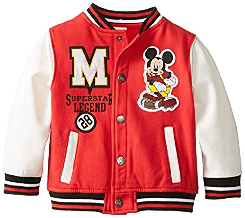 Disney Baby Boys' Mickey Mouse 2 Piece Fleece Jacket Set, Chinese Red, 24 Months