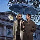 ZOMAKE Travel Umbrella, 10 Ribs Windproof Compact