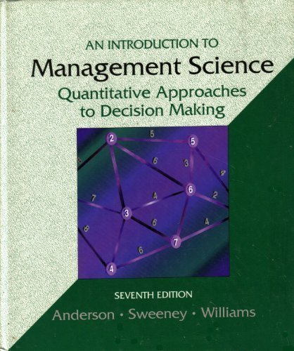 introduction to management science quantitative methods Introduction to quantitative methods helps students understand,  management control systems (2nd edition) textbook 528 pages, paperback 210 x 275 mm approx.