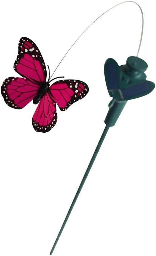 4x Tanzender Solar Vögel Kolibri Schmetterling Garten Deko Gartendeko