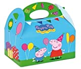 10 Themed Food Boxes ~ Picnic Carry Meal Box ~ Kids Birthday Party Bag Plate (Peppa Pig) by Playwrite