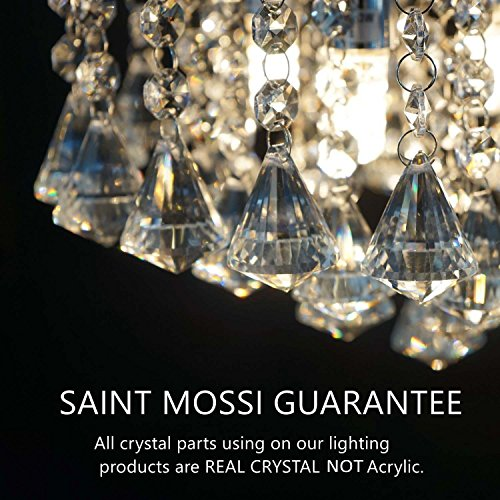 Saint Mossi Modern Contemporary Elegant K9 Crystal Glass Chandelier Pendant Ceiling Lighting fixture - 5 Lights by Saint Mossi (Image #1)'