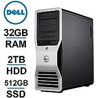 Dell 8 CORE COMPUTER, Precision T7400 Workstation, 2 X Intel QUAD Xeon 3.0GHz (12MB Cache), *NEW* 2TB HDD + 512GB SSD, 32GB RAM, WIFI, 4GB AMD Radeon R7 240, USB 3.0 - Refurb