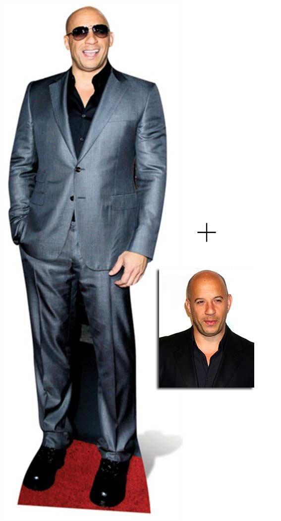 Fan Pack - Vin Diesel Lifesize Cardboard Cutout / Standee - Includes 8x10 (20x25cm) Star Photo
