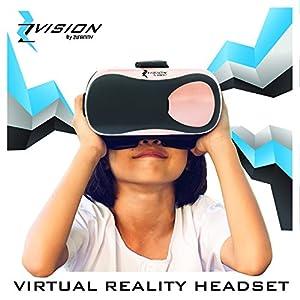 ZVISION By ZUNAMMY Virtual Reality Headset, Black/Rose Gold