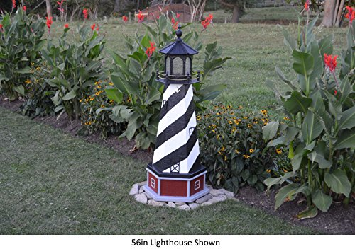 Backyard Crafts Amish-Made Cape Hatteras, NC Replica Lighthouse with Base, 56