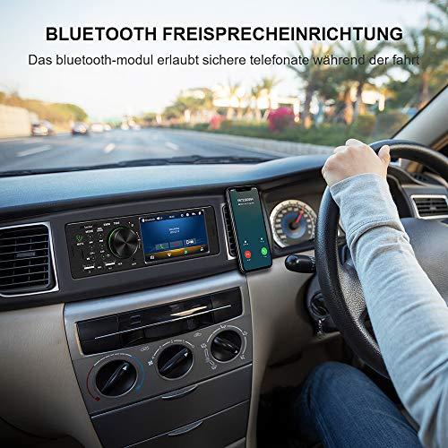Bluetooth Autoradio mit Freisprecheinrichtung, bedee 4.1