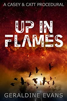 Up in Flames (#1 in the Casey and Catt British Detective Series) by [Evans, Geraldine]