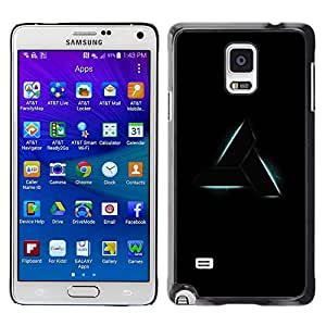 Paccase / SLIM PC / Aliminium Casa Carcasa Funda Case Cover para - Triangle Art Shape Symbol Sign Black - Samsung Galaxy Note 4 SM-N910F SM-N910K SM-N910C SM-N910W8 SM-N910U SM-N910