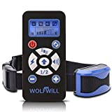 WOLFWILL Dog Training Collar 800 Yards E-Collar Waterproof & Rechargeable, Beep Automation Adjustable Shock & Vibration (1x Collars)