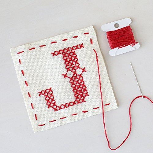 Cotton Craft Floss - Letter J - Stitch Your Own Sachet Kit