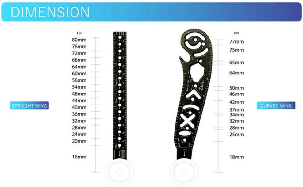 Ototon Zeichenwerkzeug multifunktional Magcon Metall gebogen Mini-Zirkel f/ür Notizblock Designer Architekten