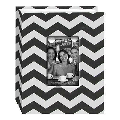 Pioneer Photo Albums CHEV-100 Chevron Fabric Frame Photo Album with 100 Pockets Hold, 4 x 6