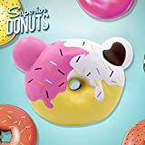 Roadwi Super Squishy Big Donut 4.7inch Jumbo Squishy Simulation Slow Rising Fun Gift Toy (Donut)