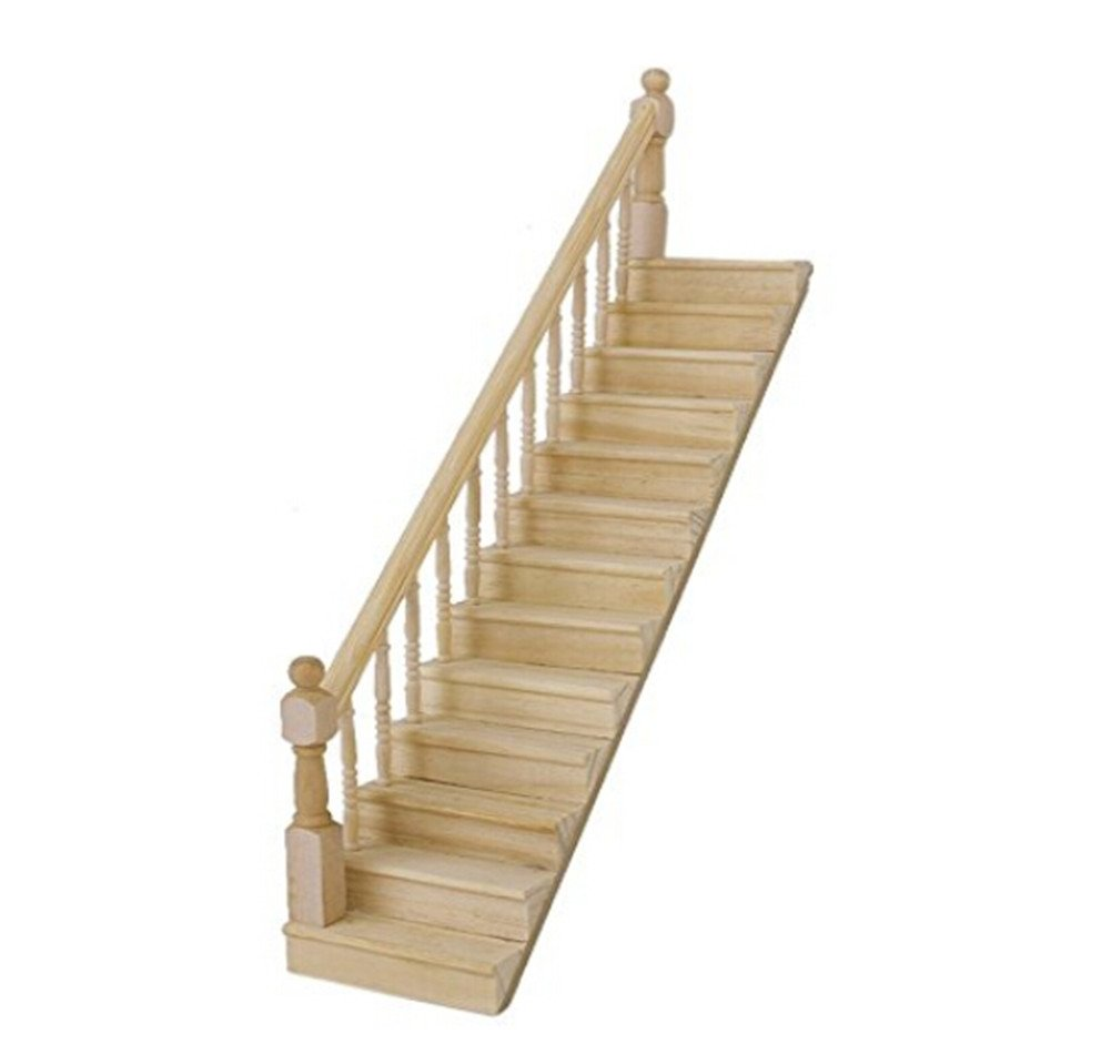 1//12 Scale Dollhouse Wooden Staircase Step Stair House Accessory