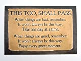 """""""This, too shall pass"""" Postcard Print 4″x6″ by Doe Zantamata (Happiness in Your Life and thehiyL), Health Care Stuffs"""