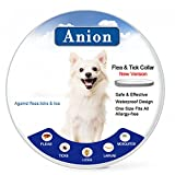 Dog Flea Treatment Collar - Flea Tick Collar for Dogs and Cats (Grey) - Repel & Prevent Fleas, Pests, Insects,Water Resistant,8 Month Protection,One Size Fits All(New Version)