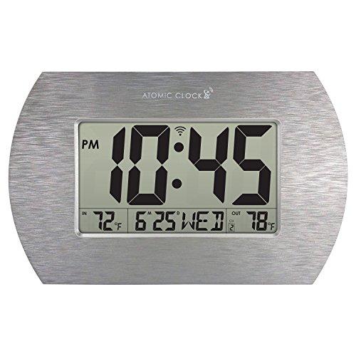 Better Homes & Gardens Digital Atomic Clock, Stainless Steel