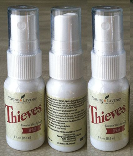 (Thieves Spray by Young Living - 3 pack, 1 fl. oz. each)