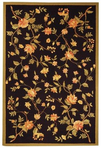 Safavieh Hand-Hooked Garden Black Wool Rug - 8'9