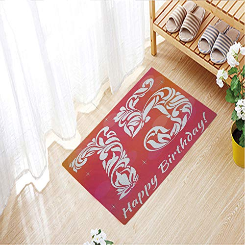 Floral Swirl Pin - Camping Door Mat,Entrance Outdoor/Indoor Floor Doormat Door Non Slip Mats Bathroom Kitchen Decor Mat,15.7