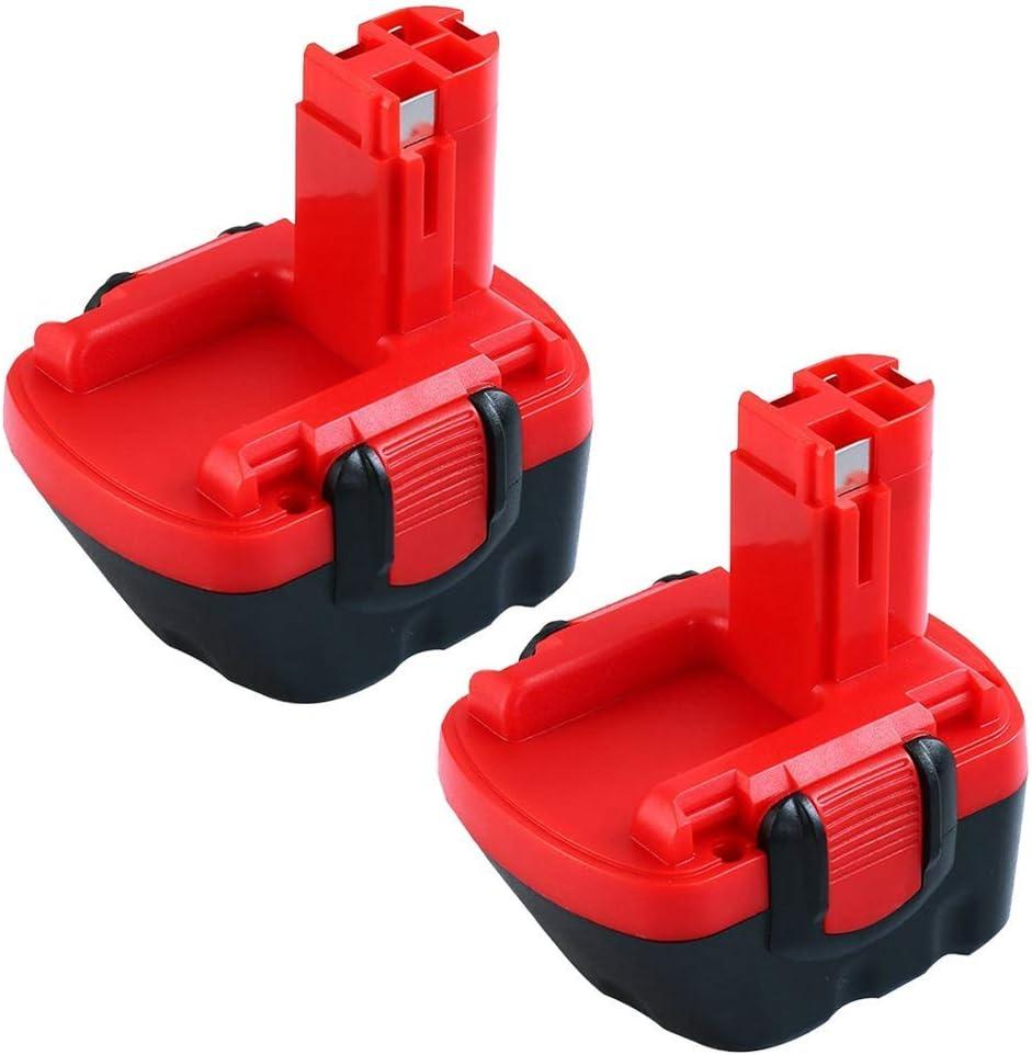 2X BAT043 3.0Ah Reemplazo de Ni-MH para Bosch 12V Batería BAT045 BAT046 BAT049 BAT120 BAT139 Herramienta eléctrica
