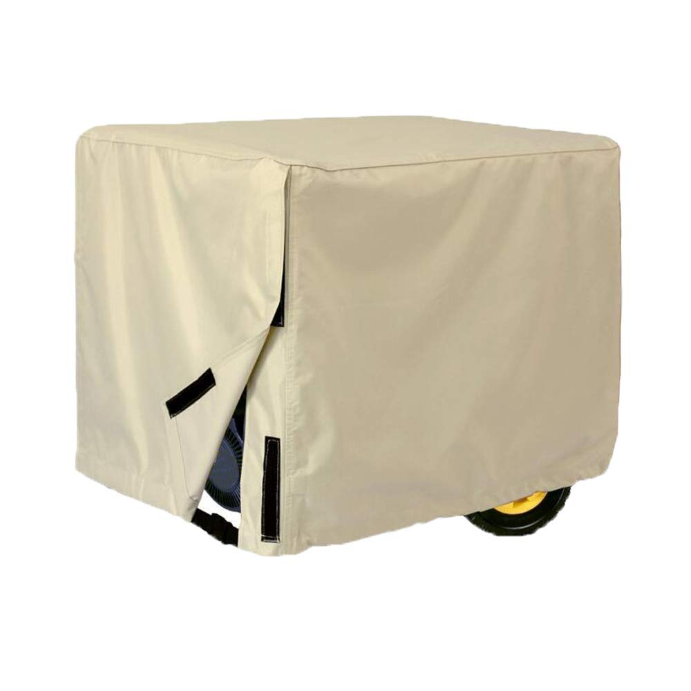 Comily Plus+ 600D Heavy Duty Universal Generator Cover Waterproof Fits Size Up to 38''x30''x28''-Beige Color