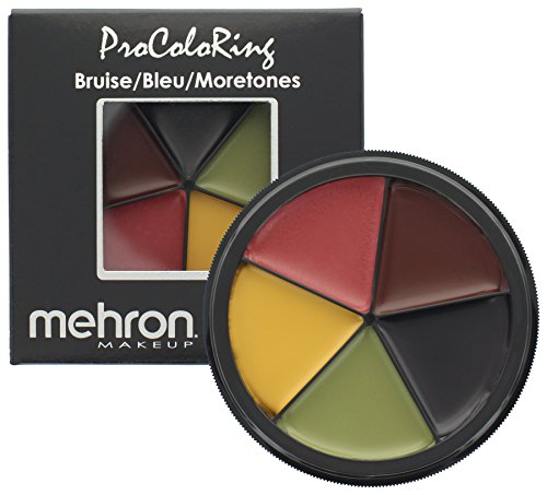Burnt Zombie Costumes For Adults (Mehron Makeup 5 Color Bruise Wheel for Special Effects| Halloween| Movies)