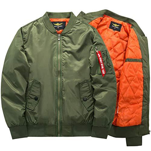 Loeay Casual Cargo Jacket épais et Mince armée Vert Militaire Moto aviateur Pilote Air Hommes Slim Fit Bomber Jacket… 1