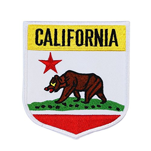 California State Flag Embroidered Applique Patch