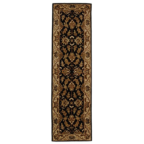 (Safavieh Heritage Collection HG628B Handcrafted Traditional Oriental Black and Beige Wool Runner (2'3