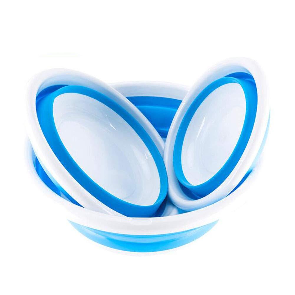 HONG SHENG Nuovo Lavabo Esterno Pieghevole in Silicone-Portable Travel Children ' S Wash Lavabo Bambino Lavabo, Multi-Funzione, Facile da Trasportare,Blue,Small HONGSHENG