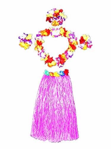 Hawaii Dancing Hula Set Grass Skirt Adult Costume Suit(Skirt -