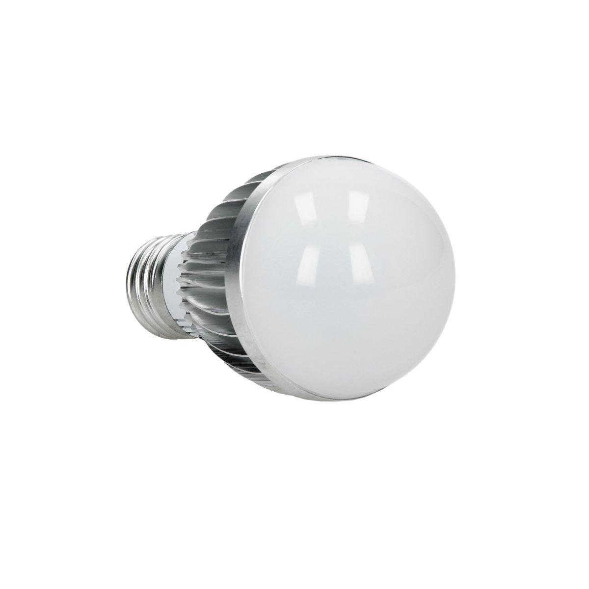 E27 - 5 Watt 10-er Pack ECD Germany 10-er Pack E27 LED Birne RGB 5W DIMMBAR AC 220-240V 16 Farben bis 417 Lumen 120° Abstrahlwinkel inkl. IR-Fernbedienung mit 24 Tasten