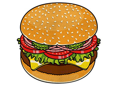 Amazon Lightning Deal 60% claimed: BigMouth Gigantic Burger Beach Blanket Toy