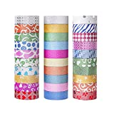 Premium Washi Tape for Any Arts and Crafts Projects,Valentine's Day best gift. Enhance your Project Experience Now!  •Designed to brighten up any keyboard, walls, frames, books, cell phone, and much more. It does not leave any marks or stains...