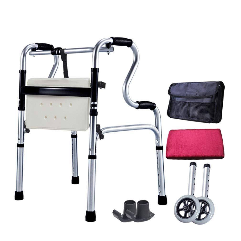 Andador de ruedas plegable con ruedas: silla de ducha de ...