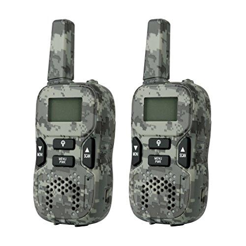 Camouflage Rechargeable Walkie Talkies 446 MHZ Kids Walkie Talkie Long...