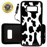 Custom Galaxy S8 Case (Cow Print) Edge-to-Edge Rubber Black Cover Ultra Slim   Lightweight   by Innosub