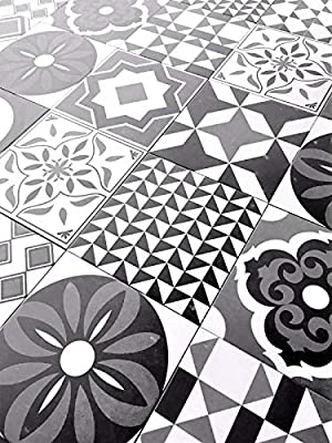 8.75x8.75 Cafe De Paris Collection Patchwork Porcelain Wall Floor Tile (Box of 10)