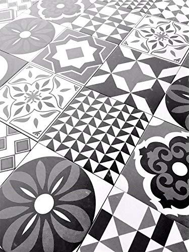 8.75x8.75 Cafe De Paris Collection Patchwork Porcelain Wall Floor Tile (Box of 10)