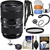 Sigma 24-35mm f/2 ART DG HSM Zoom Lens with USB Dock + Filter + Sling Strap + Diffusers + Kit for Canon EOS Digital SLR Cameras