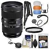 Sigma 24-35mm f/2 ART DG HSM Zoom Lens with USB Dock + Filter + Sling Strap + Diffusers + Kit for Nikon Digital SLR Cameras