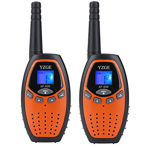 YZGE Walkie Talkies Kids Toys 22-Channel Long Range FRS/GMRS Two-Way Radio Kids (2 Pack,Orange)