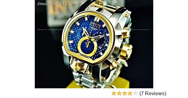 Amazon.com: Invicta Reserve Mens 52mm Bolt Zeus Magnum Swiss Quartz Dual Movement Stainless Steel Bracelet Watch: Watches