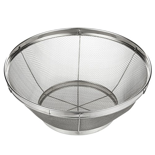 - Stainless Steel Colander/Mesh Colander Strainer Basket - For Kitchen Straining, Draining, Salad, Spaghetti and Noodles - 10.25 x 4 Inches