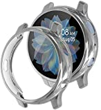 [2 Pack] Tensea Compatible with Samsung Galaxy Watch Active 2 Screen Protector Case 44mm 40mm, Soft TPU Bumper Full…