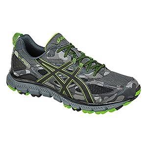 ASICS Men's Gel-Scram 3 Trail Runner, Carbon/Black/Green Gecko, 10.5 M US