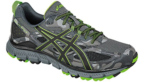 ASICS Men's Gel-Scram 3 Trail Runner, Carbon/Black/Green Gecko, 11.5 M US