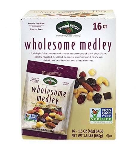 Second Nature Wholesome Medley Nuts Snack Mix 1.5 Oz 16 Counts by SecondNature